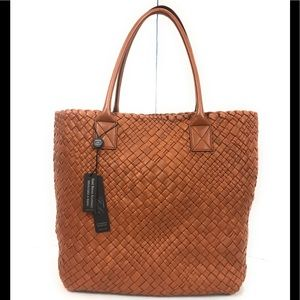Falor F1883 woven leather made in Italy tote bag